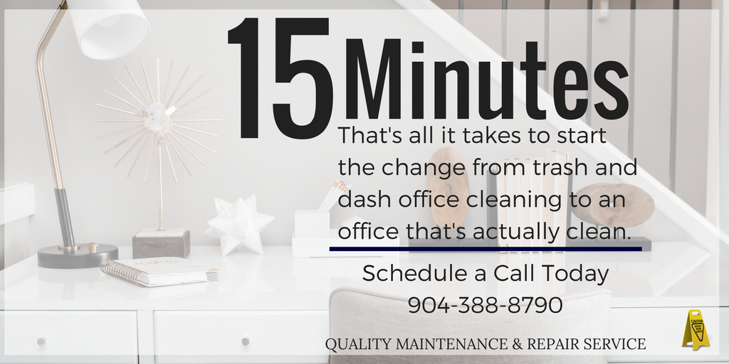 Offer to schedule a consultation call with Quality Maintenance & Repair Service Inc Janitorial Jacksonville